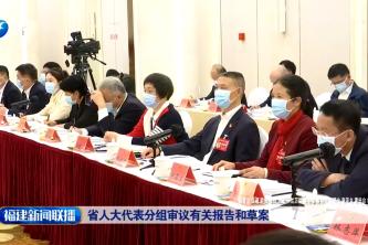 省人大代表分组审议有关报告和草案