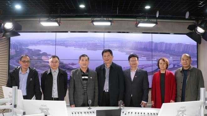 省台港澳办副主任吴一明一行来到广播全媒体中心调研