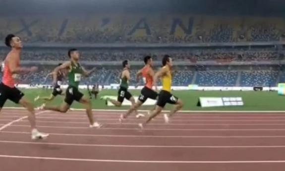 力压谢震业!福建飞人汤星强获得男子200米金牌